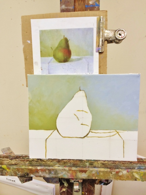Hopefully this will resemble a pear in some way.